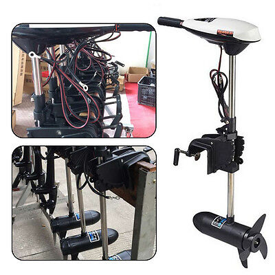 65LB Electric Trolling Motor Outboard Engine Inflatable Fishing Boat 12V Hangkai