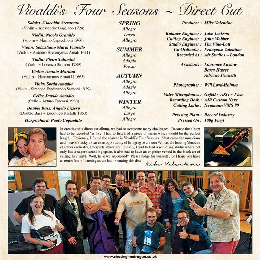 Details about VIVALDI THE FOUR SEASONS DIRECT TO VINYL CUT LP