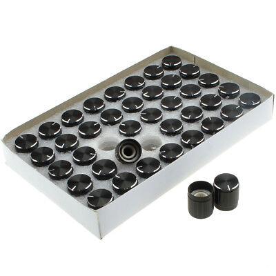 40pcslot 15mm Aluminum Alloy Potentiometer Control Volume Knobs Mini Cap Black