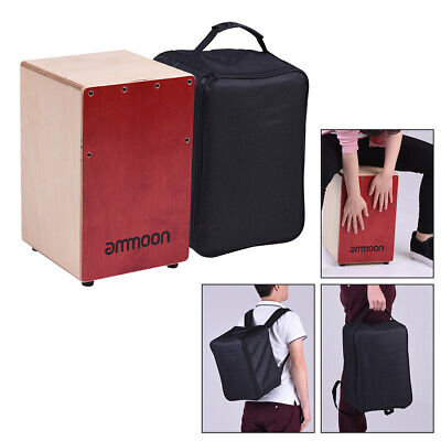 Cajon Wooden Box Drum Percussion Instrument Wood with Carry Bag for Music Lover