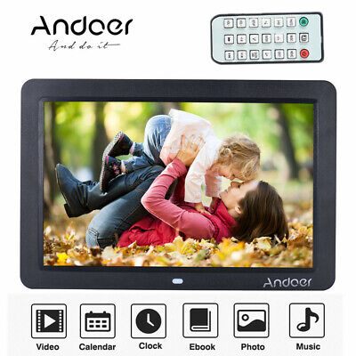 """12"""" Wide Screen HD LED Digital Picture Frame Photo Album Electronic Remote N4W4"""