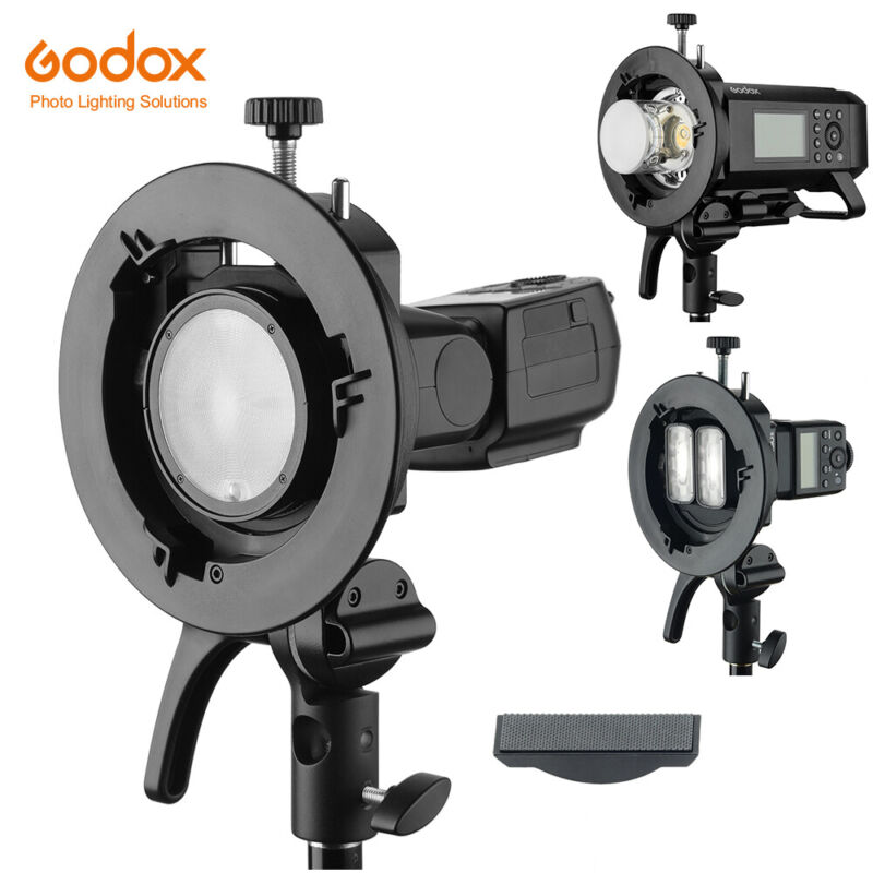 Godox Bowens Mount S2 Flash S-type Bracket for Godox V1 AD200 AD400PRO Flash