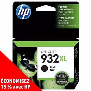 Cartouches d'encre noire et de couleur d'origine HP 932/933 – Achetez directement de HP et économisez! (15%)