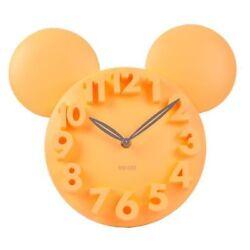 Modern Design Home Decor Decoration Mickey Mouse Big Digit 3D Wall Clock -Yellow