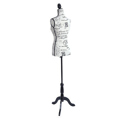 Female Mannequin Torso Dress Form Display W Black Tripod Stand Half-length Lady