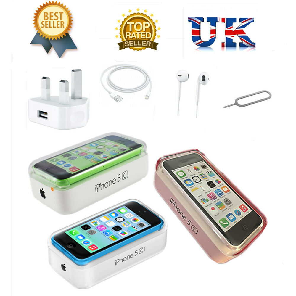 NEW NEW APPLE IPHONE 5C 8GB 16GB 32GB FACTORY UNLOCKED SIM FREE SMARTPHONE UK SELLER