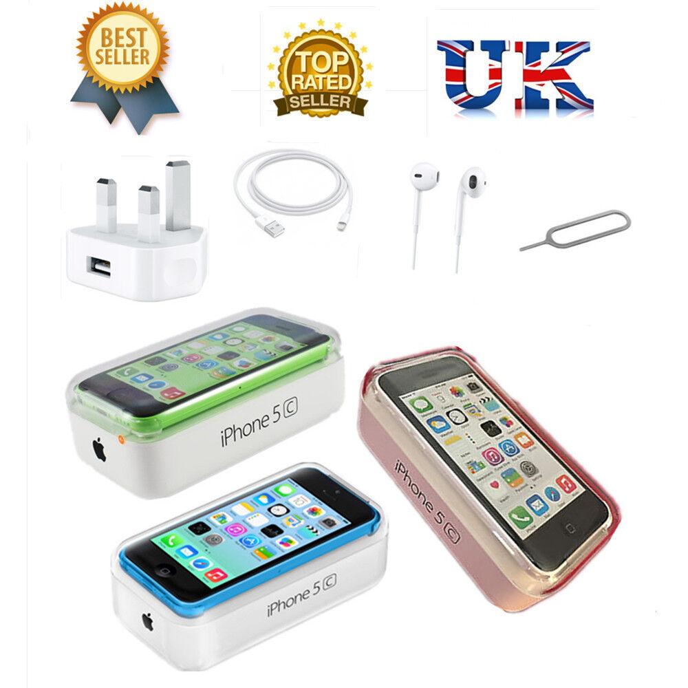 NEW NEW APPLE IPHONE 5C 8GB 16GB 32GB FACTORY UNLOCKED SIM FREE SMARTPHONE UK SELLER