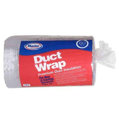 R6 Fiberglass Metal Hvac Ductwork Duct Wrap Pipe Insulation Foil Backing 2x30