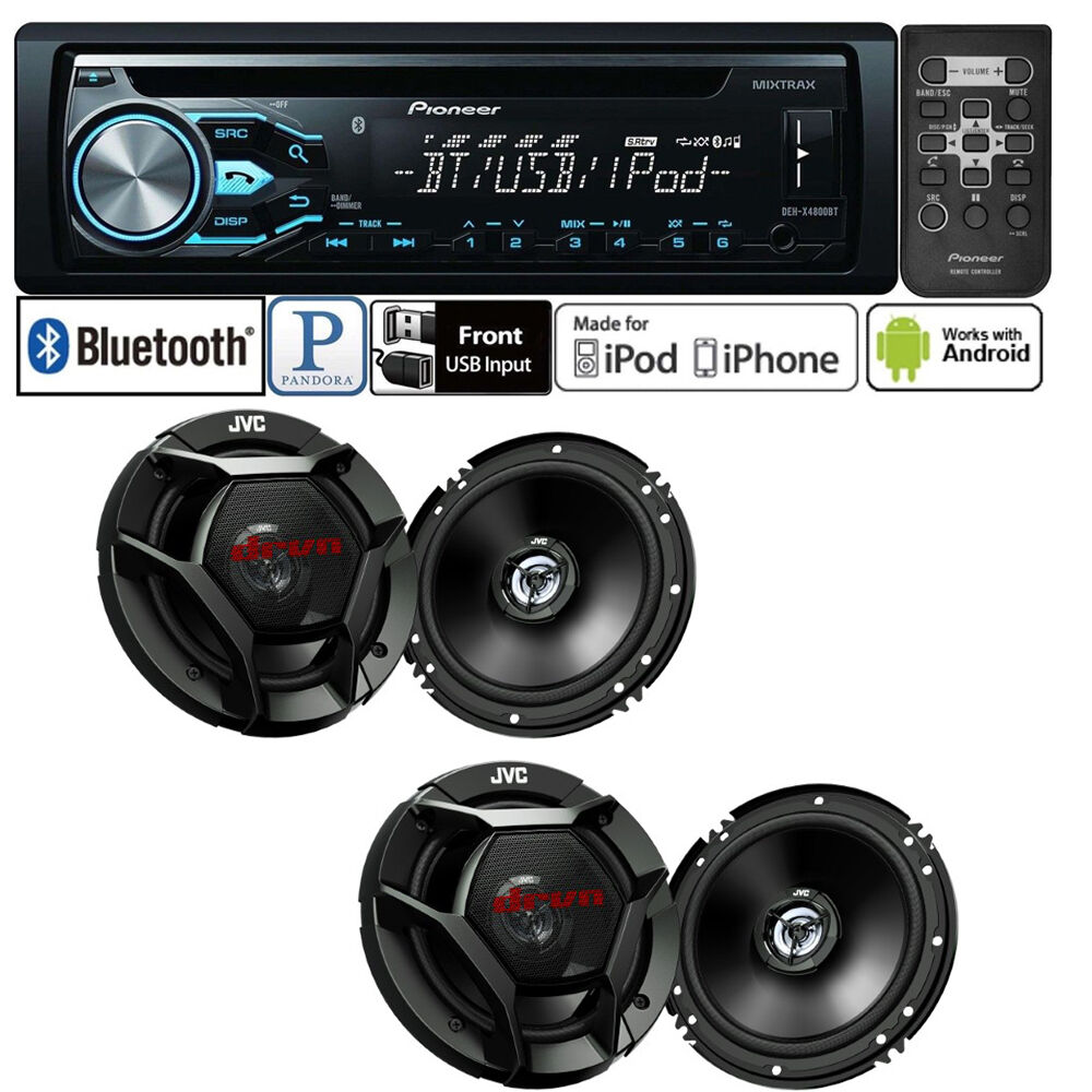 Pioneer Car Stereo Radio Bluetooth CD Player + 2 Pair  Car S