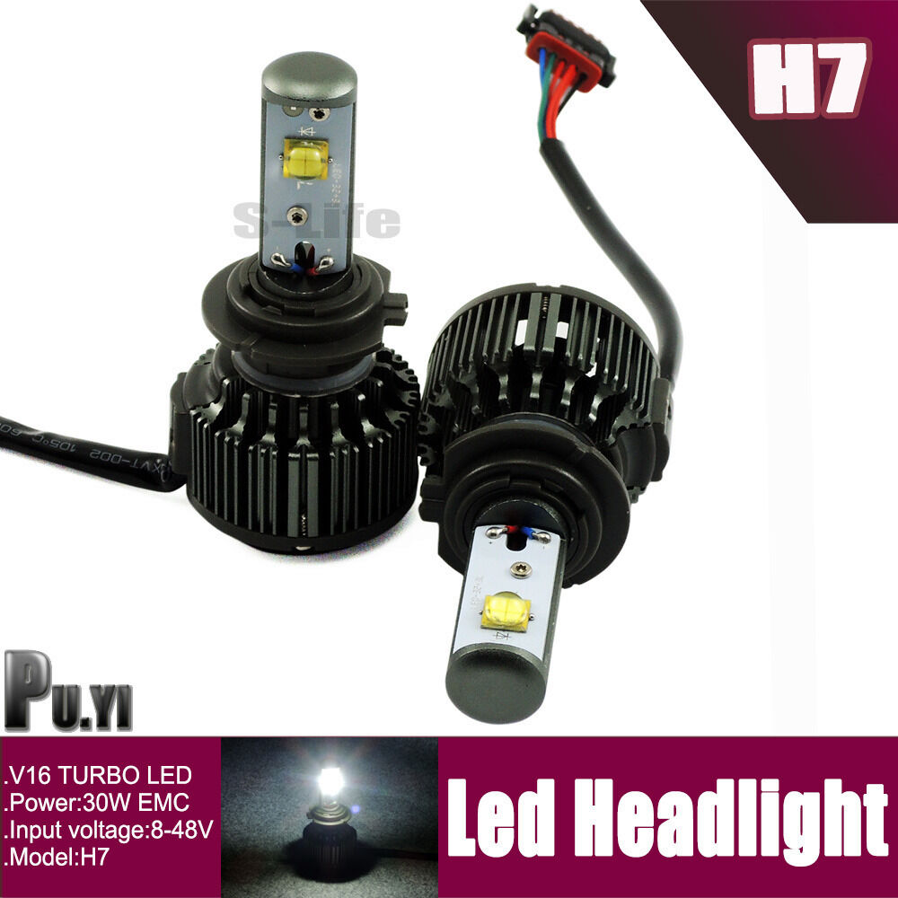 cree 30w 3600lum h7 car led system headlight kit led light. Black Bedroom Furniture Sets. Home Design Ideas