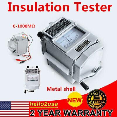 1000m 1000v Megger Meter Insulation Tester Resistance Meter 120rpm Professional