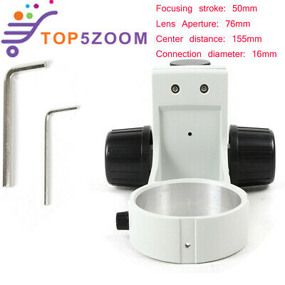 Stereo Microscope Head Holder Focus Adjustment Arm Microscope Ring Arbor Stand