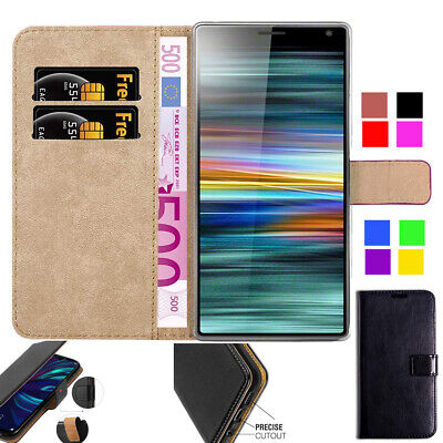 Geniune Leather Case For Sony Xperia Experia XA1 L1 L2 L3  Wallet Flip stand