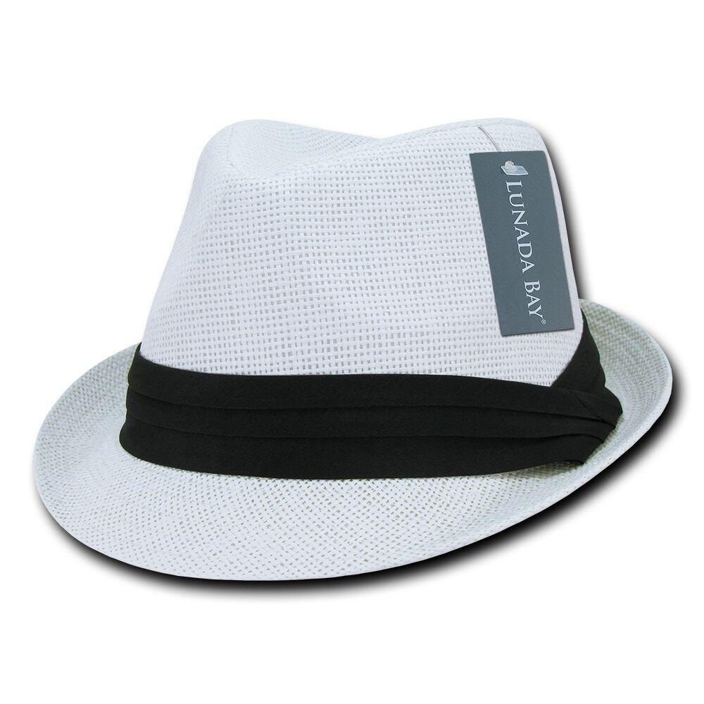 Lunada Bay Paper Straw Fedora Braided Hatband Caps Hats Paper Straw Unisex