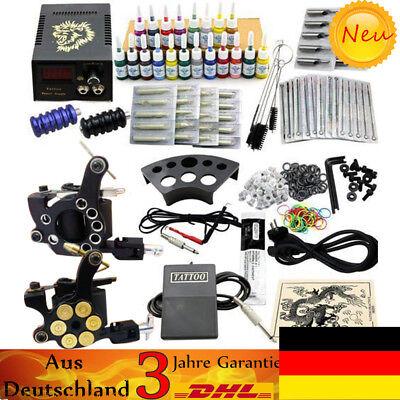 Kit completi per tatuaggi 2 Macchinetta Tatuaggi Gun Power 20 Inchiostro Set