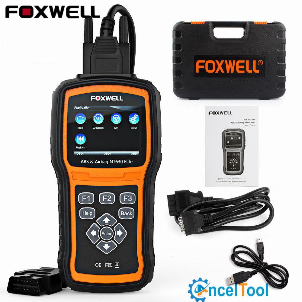ABS Airbag SRS Reset Tool OBD Code Reader Scanner Diagnostic Foxwell NT630Elite