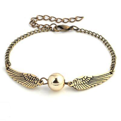 Harry Potter Golden Snitch Quidditch Bracelet Charm Hogwarts Jewellery Gift Idea