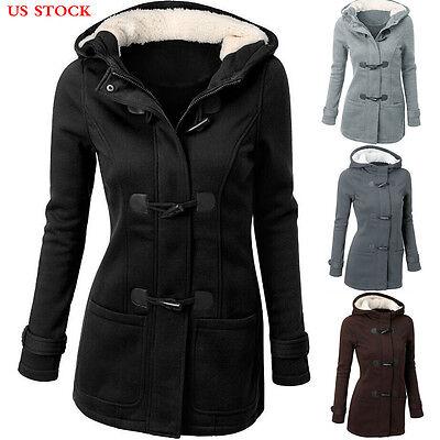 Womens Fashion Warm Wool Trench Windbreaker Parka Outwear Slim Long Coat Jacket