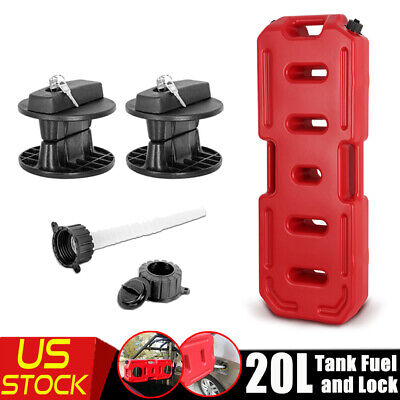 20l 5gallon Jerry Can Emergency Backup Tank Fuel Gas Gasoline W Lock Atv Suv