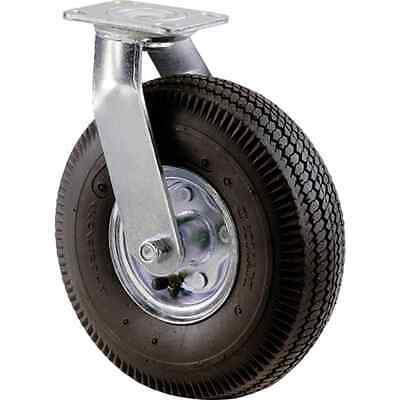 Caster Pneumatic Wheel Swivel Rubber Tire Plate 10 In Wheels Medium Duty 350 Lb