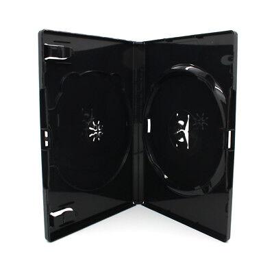 50 x 2 Fach AMARAY DVD Hüllen für 2 CD / DVD Hülle   14mm Schwarz Doppelseitig