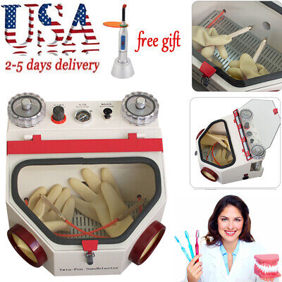 Dental Lab Equipment Double Pen Fine Sandblaster Unit Lab Health Machine Gift