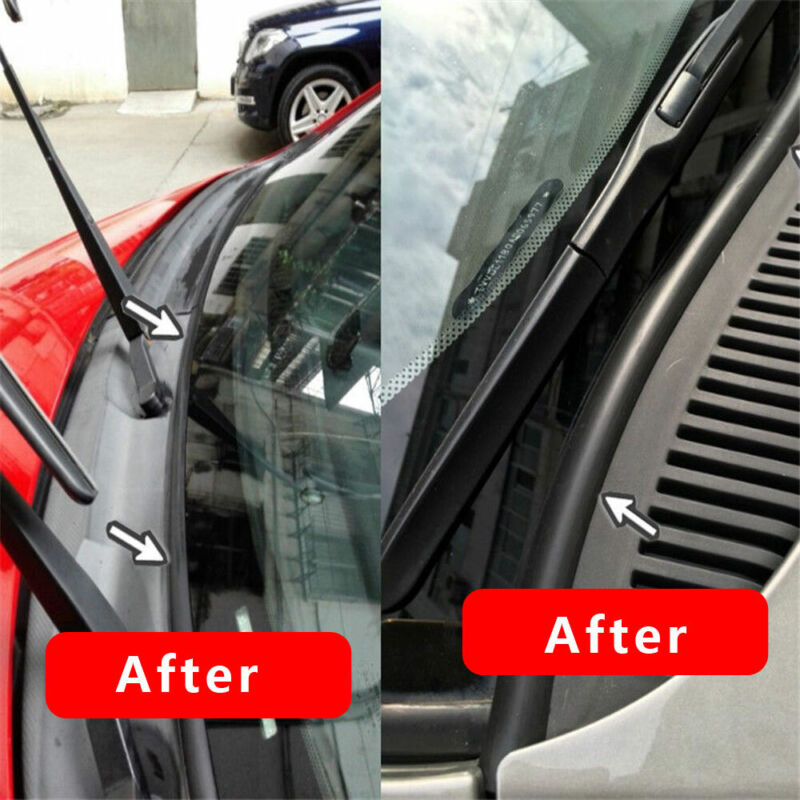 1x 1.8m Car Ageing Rubber Seal Under Front Windshield Panel Sealed Trim Strips