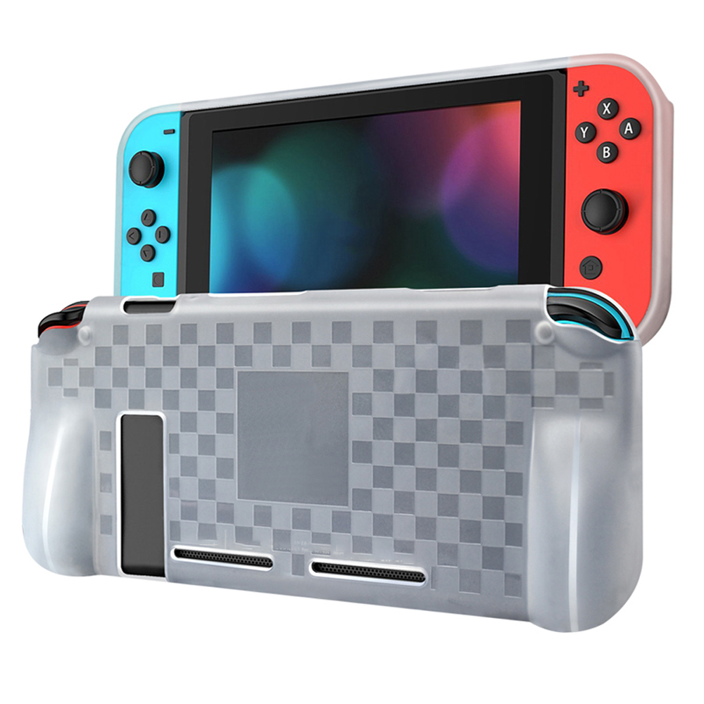 Nintendo Switch Schutz Hülle Silikon Cover Tasche Etui Slim Case TPU Transparent