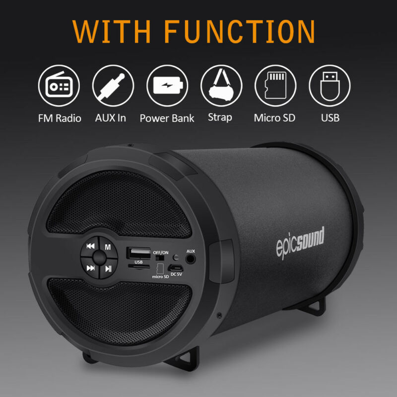 Portable Bluetooth Wireless Speaker Waterproof Power Bank Ul
