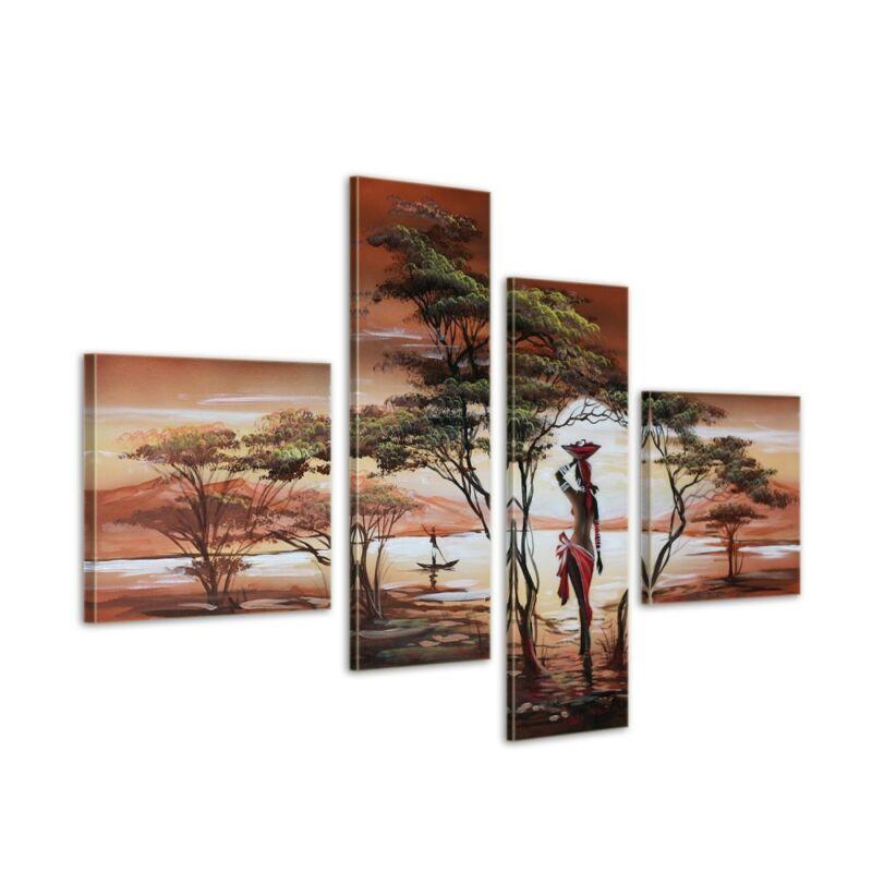 African+Dreams+M1+-+Leinwandbild+4+teilig+100x70cm+Handgemalt