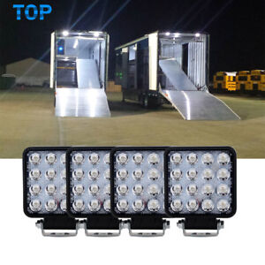 x4 LED Square Trailer Utility Cargo Enclosed Stop Turn Tail Brake Light S.t.t.