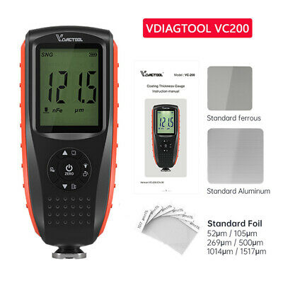 Car Digital Paint Coating Thickness Tester Auto Measuring Gauge Meter Tool Vc200