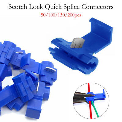 50-200x Scotch Lock Wire Connector Quick Splice Scotchlok Electrical Cable Joint