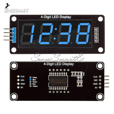 0.56inch Tm1637 4bit Digital Led 7 Segment Clock Tube Display For Arduino Blue