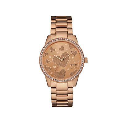 Guess W0699L3 Heart Love Rose Gold Ladies Watch SALE RRP £209 UK Warranty