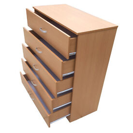 Brand New 5 Drawer Chest of Drawers Beach Colour
