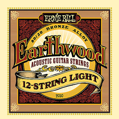Ernie Ball Earthwood 2010 12-String Light 80/20 Bronze Acoustic Guitar -