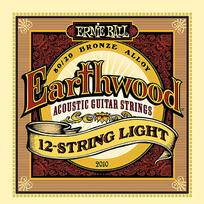 Ernie Ball Earthwood 2010 12-String Light 80/20 Bronze Acoustic Guitar (Bronze Lite 12 String)