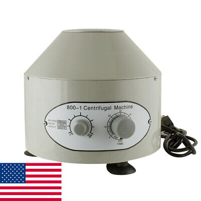 Ups Ship Electric Centrifuge Machine Lab Medical Practice 4000rpm6x 20ml Rotor