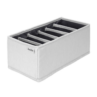 Drawer organizer(6 cells)Polyester blend with PP  board,with zipper light grey