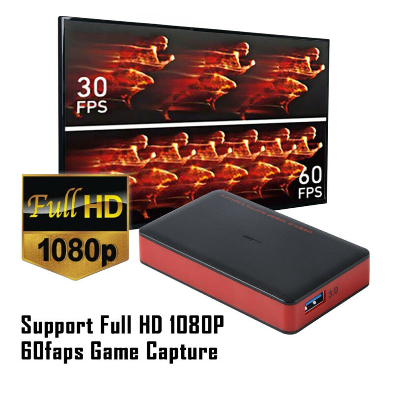 Full HD 1080P HDMI Video Game Capture Card Support Live Video Streaming AH800