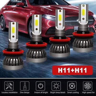 Used, 4pcs H11 H9 Mini Combo LED Hi-Lo Beam Headlight Fog Bulb for 07-18 Nissan Altima for sale  USA