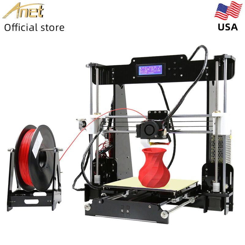 Anet A8 3D Printer 220*220*240mm Desktop DIY Kits with 10M PLA & TF Card US