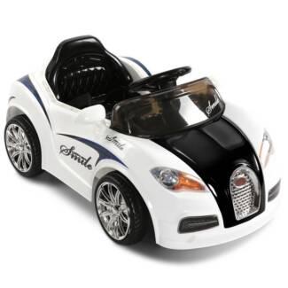 AUS FREE DEL-Kids Ride on Car Bugatti with Remote Control - White