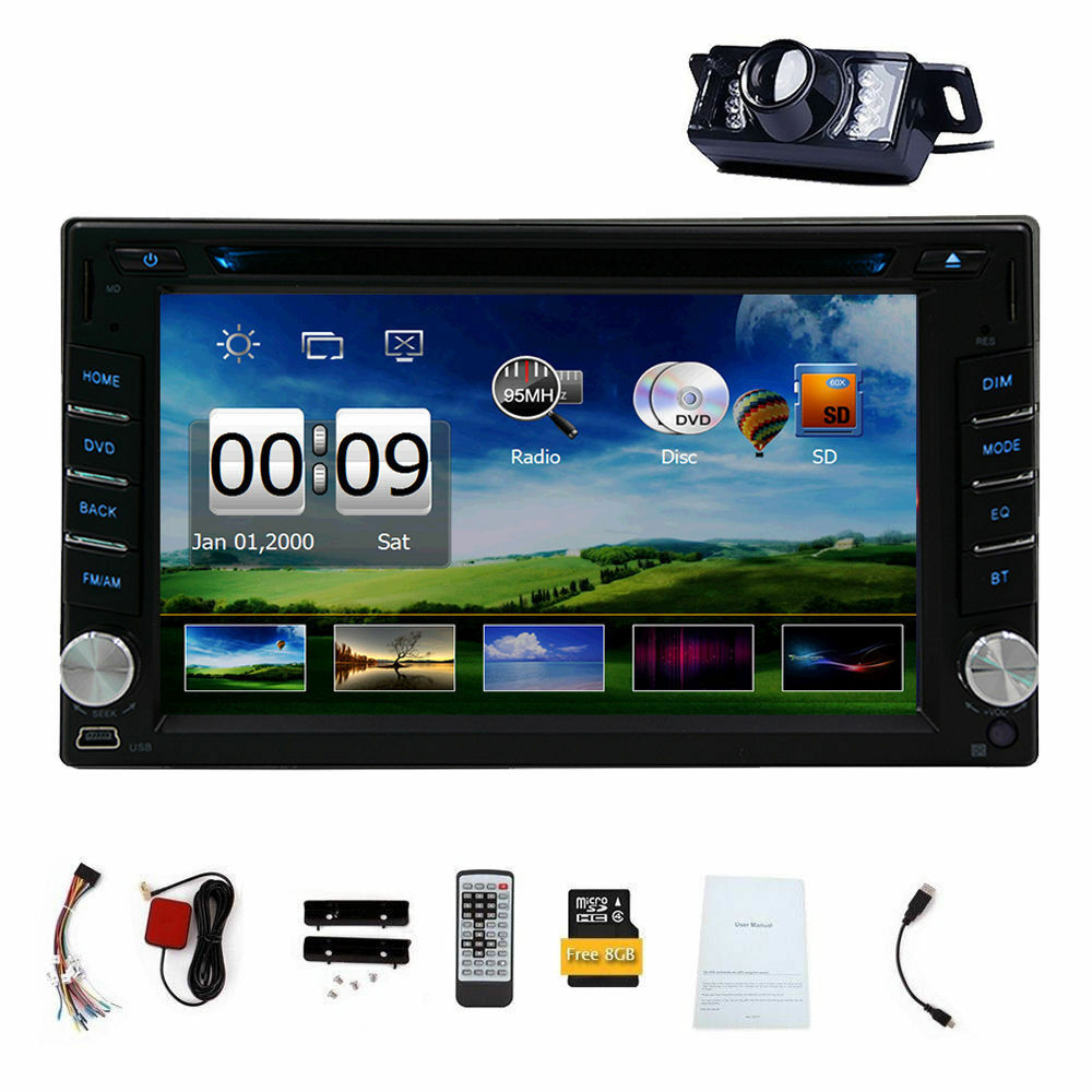 $124.90 - Double 2DIN In Dash GPS Navi Car DVD Player Bluetooth Auto Stereo Radio USB+CAM