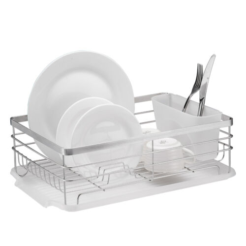 Stylish Sturdy Stainless Steel Metal Wire Medium Dish Drainer Drying Rack