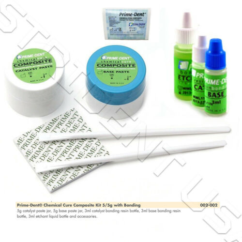 Prime-Dent Chemical Cure Composite Kit 5 gm / 5 gm w/ Bonding #002-002
