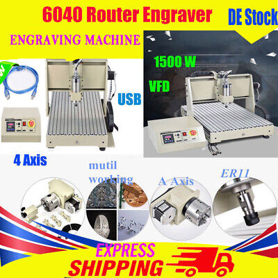 4 Axis Cnc 6040z Engraving Drilling Machine Mill Engraver 3d Cutter Usb Router