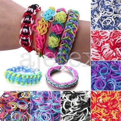 100/200Pcs Refill Loom Rubber Bands With S Clips Loom Tool DIY Bracelet](Rubber Band Looms)