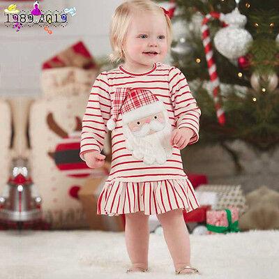 Toddler Kids Baby Girls Stripe Santa Claus Christmas - Baby Santa Claus Outfit